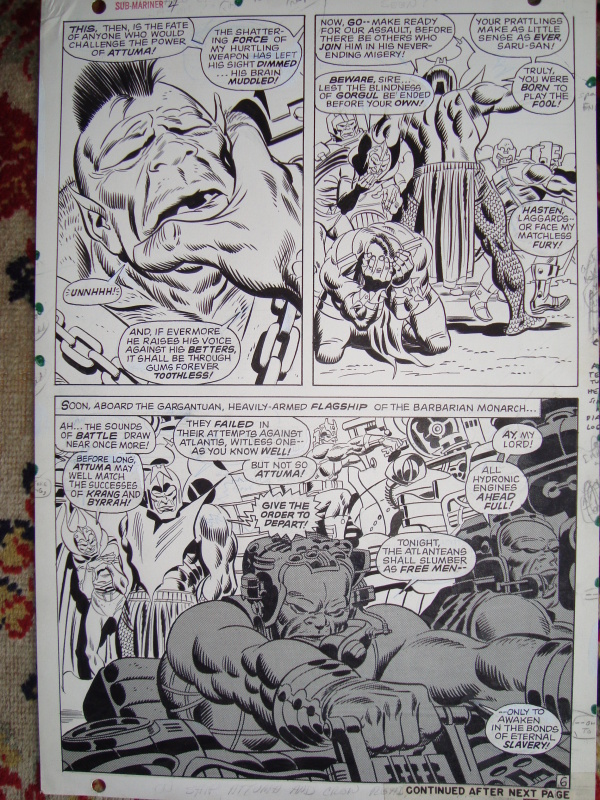 Namor the Submariner by John Buscema, Frank Giacoia, Roy Thomas - Comic Strip
