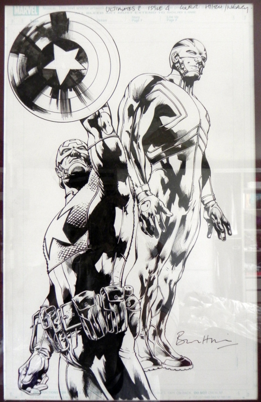 Ultimates série 2 cover episode 4 by Bryan Hitch, Paul Neary - Original Cover