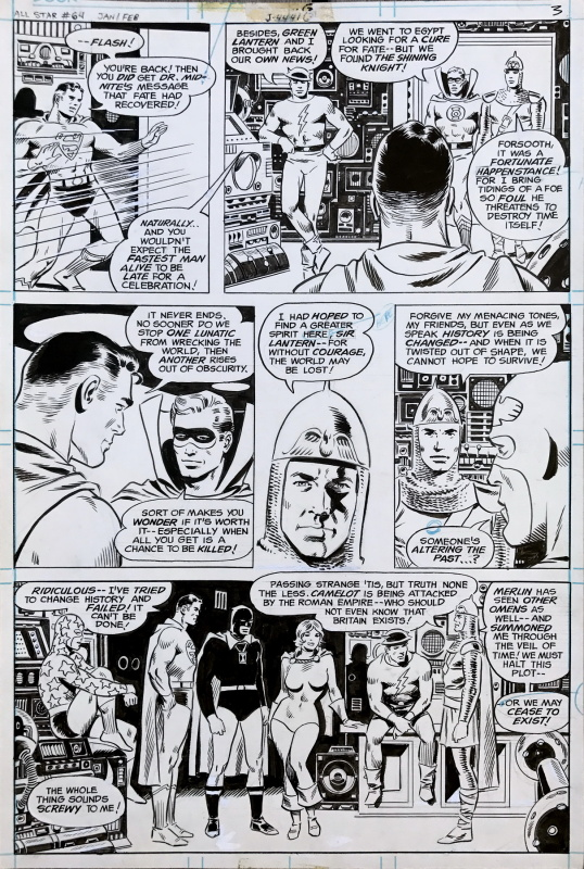 All-Star Comics #64 p3 by Wally Wood - Comic Strip