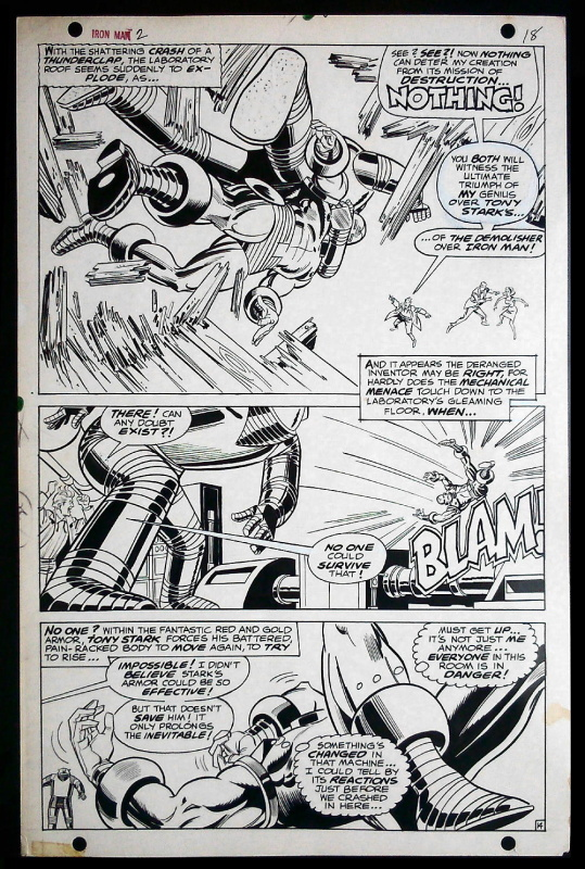 Iron MAN by Johnny Craig - Comic Strip