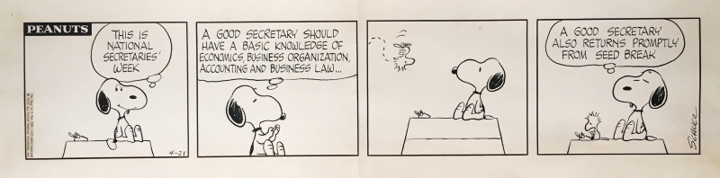Peanuts : Snoopy et Woodstock - strip du 21 avril 1970 by Charles M. Schulz - Comic Strip