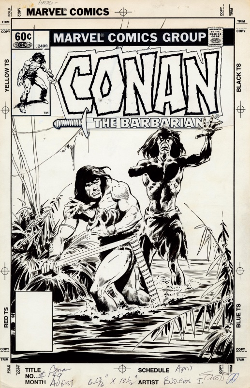 Conan the Barbarian # 149 unpublished cover by John Buscema - Comic Strip
