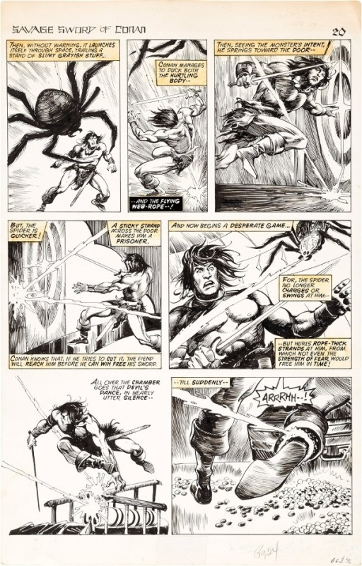 John Buscema/Alfredo Alcala - Savage sword of Conan, issue 24 page 20 by John Buscema, Alfredo P. Alcala - Comic Strip
