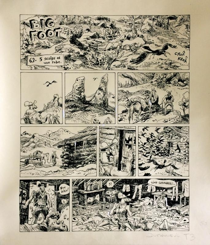 Planche Originale De Big Foot Par Nicolas Dumontheuil Par Nicolas Dumontheuil Planche Originale