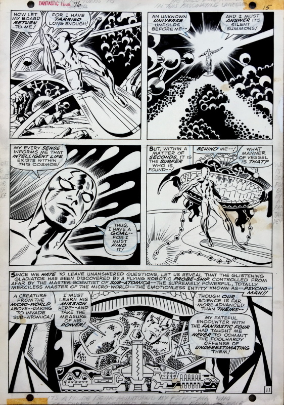 Fantastic Four #76 page 11 by Jack Kirby, Joe Sinnott - Comic Strip