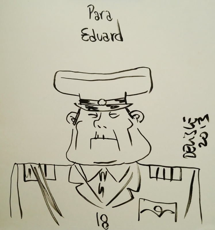 Guy Delisle - Général Birman by Guy Delisle - Sketch