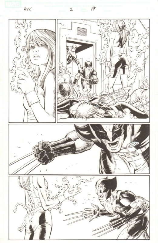 Avengers vs X-men, issue 2, page 19 by John Romita Jr. - Comic Strip