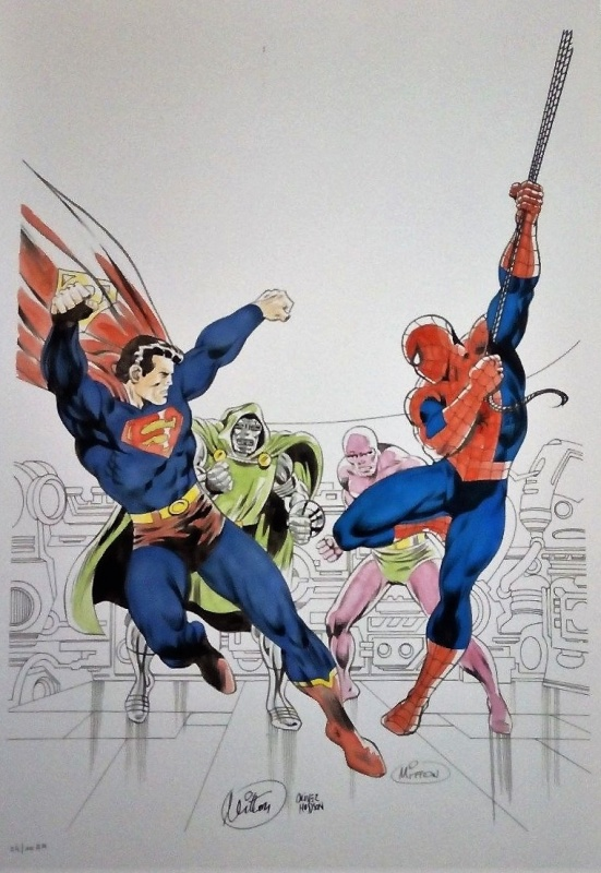 Superman et Spider-Man/Spiderman by Jean-Yves Mitton, Olivier Hudson - Original art