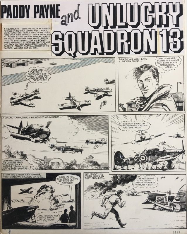 For sale - Paddy Payne and Unlucky Squadron 13 by Peter Sarson - Comic Strip