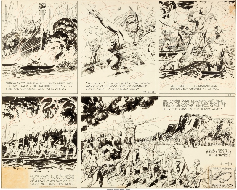 Hal Foster Prince Valiant Sunday 22.01.1939 by Hal Foster - Comic Strip