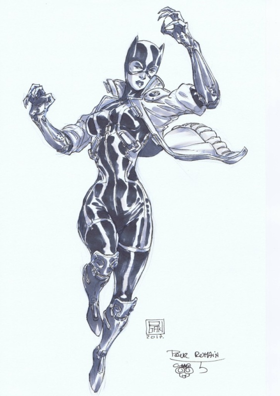 Catwoman par Ogaki by Philippe Ogaki - Illustration