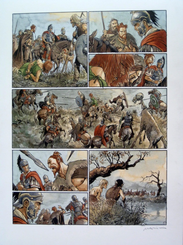 For sale - Les aigles de Rome  -T3 - Planche 47 by Enrico Marini - Comic Strip