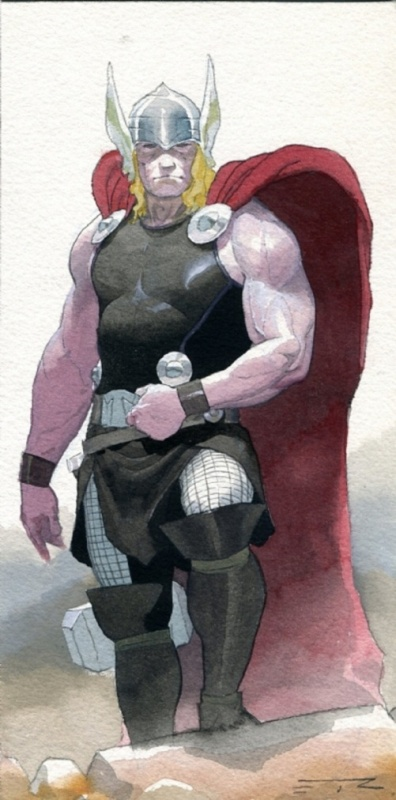 Thor, God of thunder pin-up by Esad Ribic - Comic Strip