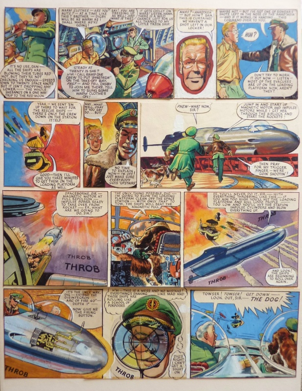 The Red Moon Mystery - Dan Dare by Frank Hampson - Comic Strip