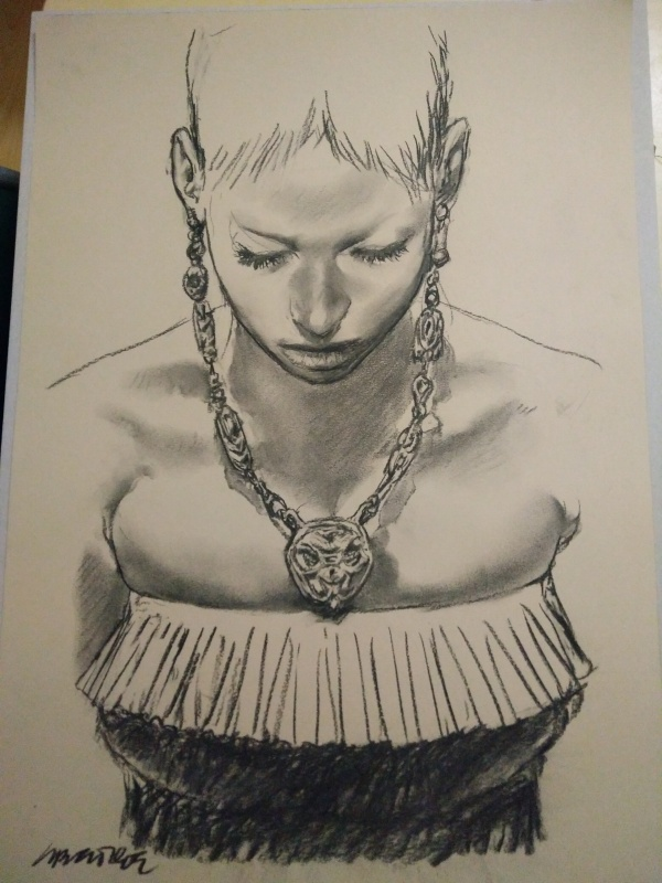 Le collier par Tanino Liberatore - Illustration