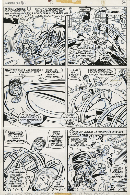 Fantastic Four #116 - Planche 27 by John Buscema, Joe Sinnott - Comic Strip