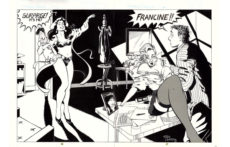 Strangers in Paradise - Vol 1 #1 p16-17 by Terry Moore - Comic Strip