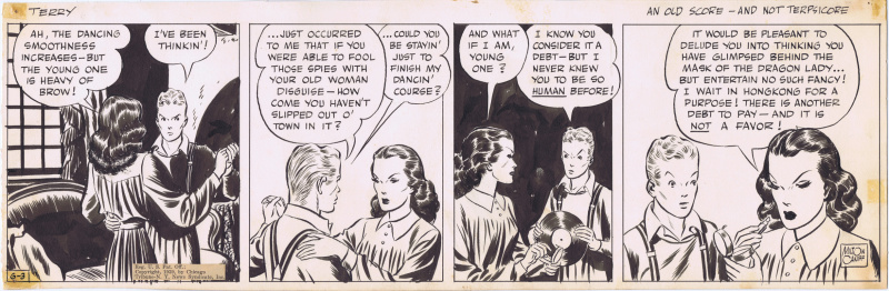 Terry and Pirated 6/3/39 Daily by Milton Caniff featuring the Dragon Lady by Milton Caniff - Comic Strip