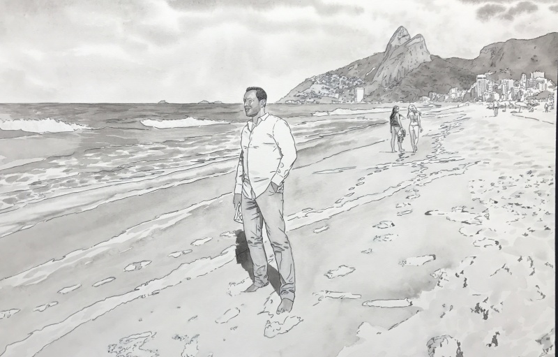 The men from Ipanema by Lounis Chabane - Illustration