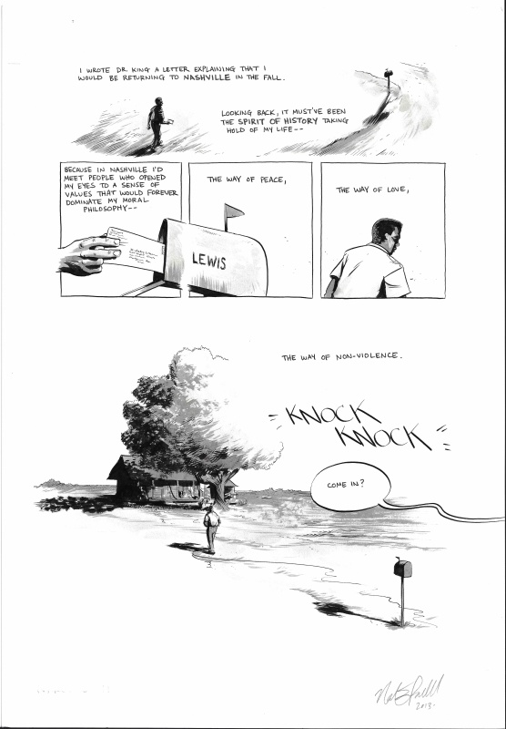 March: BOOK ONE p. 73 by Nate Powell, John Lewis, Andrew Aydin - Comic Strip