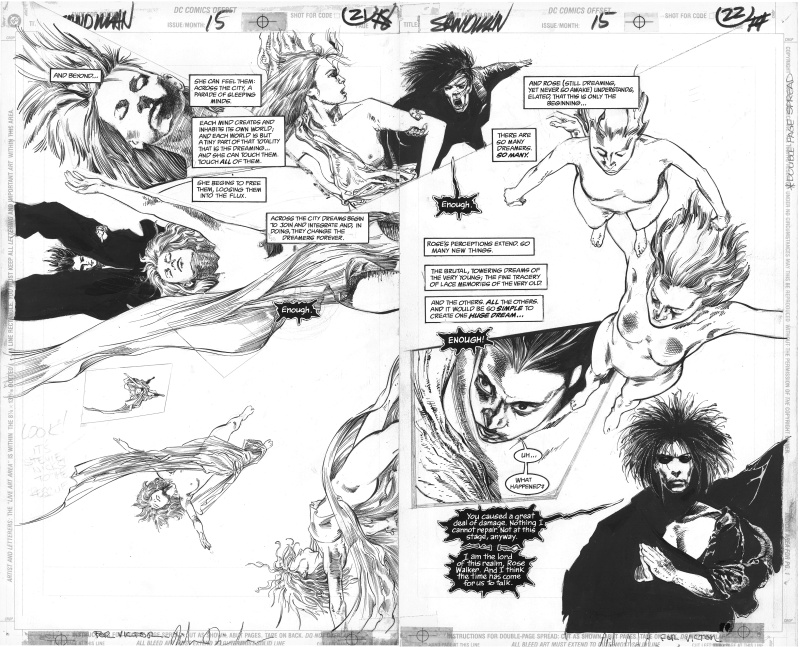 Sandman, Issue 15 pages 21 et 22 by Neil Gaiman, Mike Dringenberg, Malcolm Jones III - Comic Strip