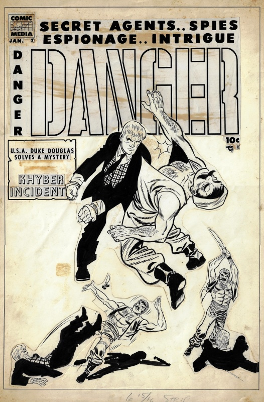 Danger # 7 (1954) by Don Heck - Original Cover