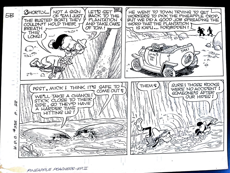 Mickey Mouse Pineapple Poachers half-page by Paul Murry - Comic Strip