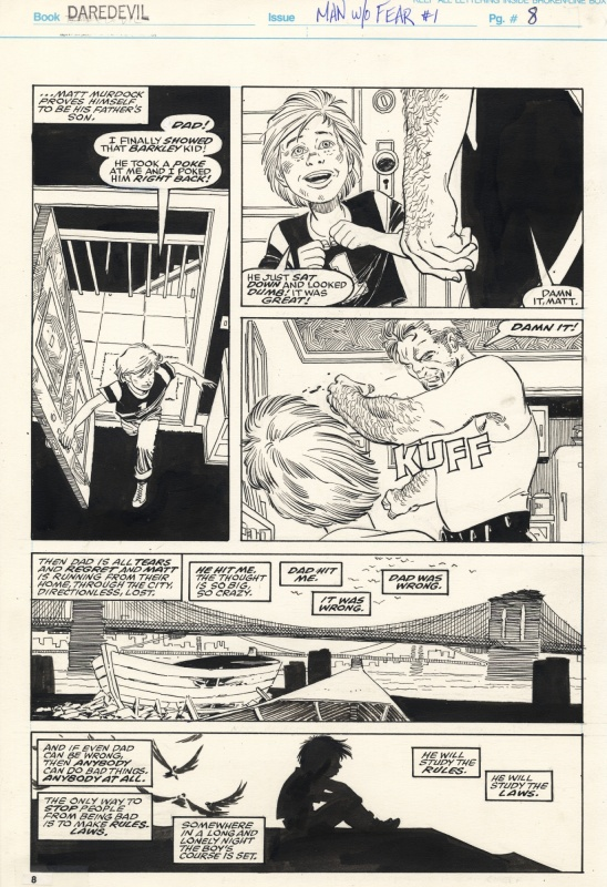Daredevil - The Man Without Fear - #1 page 7 by John Romita Jr. - Original art