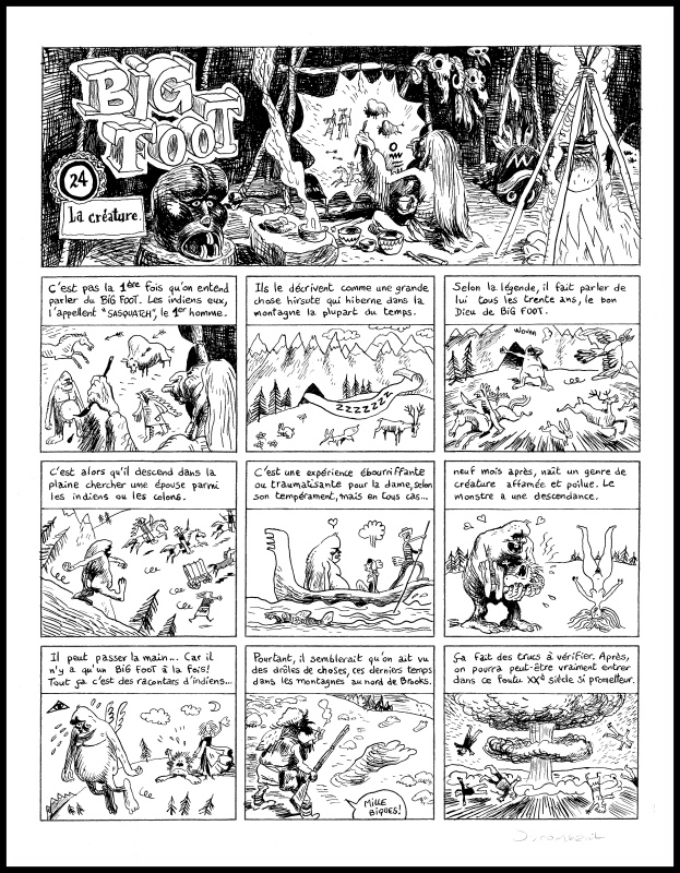 Big Foot Tome II by Nicolas Dumontheuil - Comic Strip