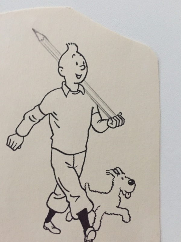 For sale - Tintin au crayon by Hergé - Illustration