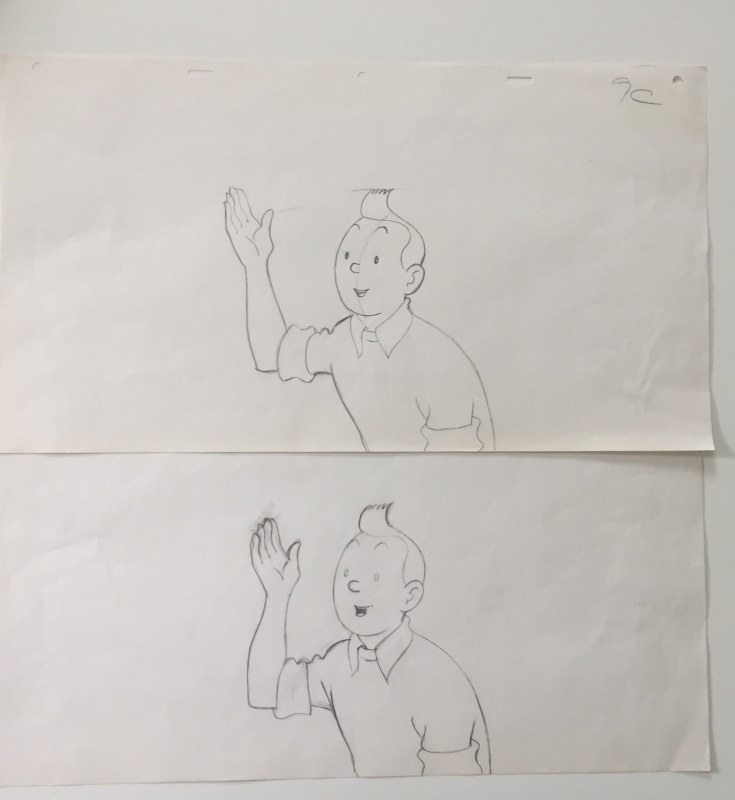 For sale - Dessin animé publicitaire by Studios Hergé - Original art