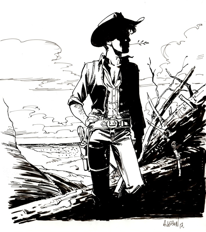 Hommage Lucky Luke. by Augustin Lebon - Illustration