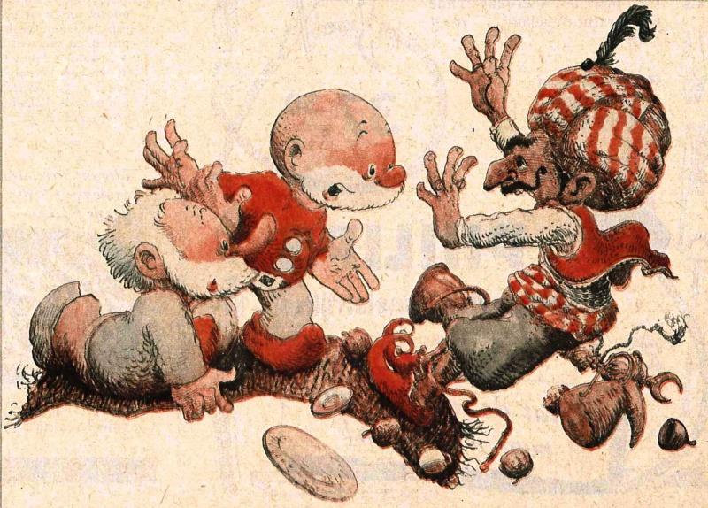 paulus de boskabouter par jean dulieu - illustration