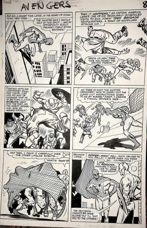 Avengers 12- Spider-Man asks to join Avengers 1964~ by Don Heck, Chic Stone - Comic Strip