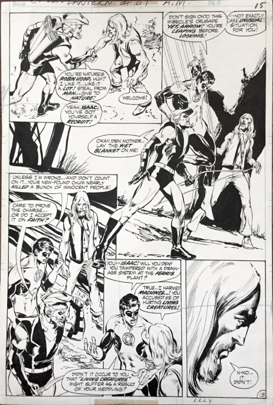 Neal Adams- Green Lantern/ Green Arrow 89 -pencils and inks 1972 by Neal Adams - Comic Strip