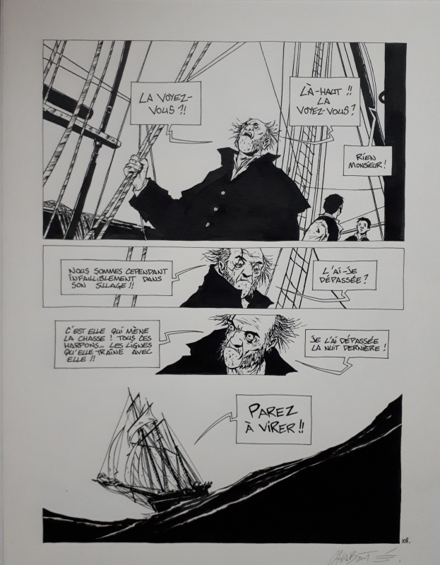 Moby dick by Christophe Chabouté - Comic Strip