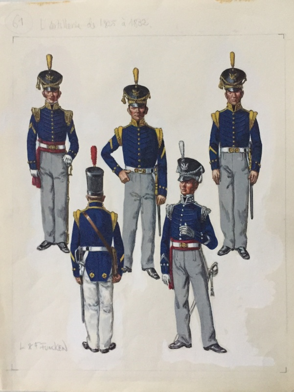 For sale - L'artillerie de 1825 à 1832 by Fred Funcken, Liliane Funcken - Illustration