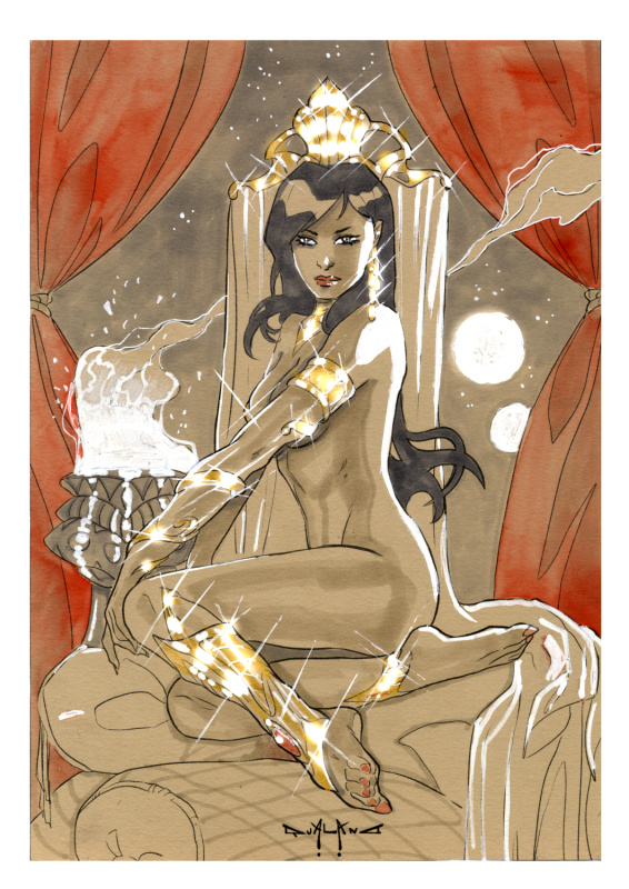 Dejah Thoris by Pascuale Qualano - Original art