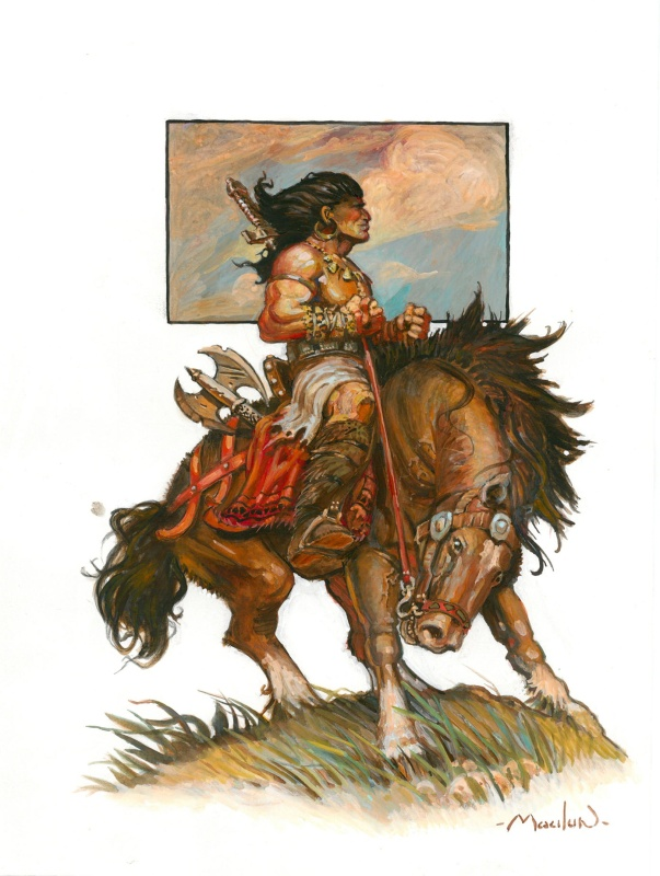 Conan à cheval by Régis Moulun - Illustration