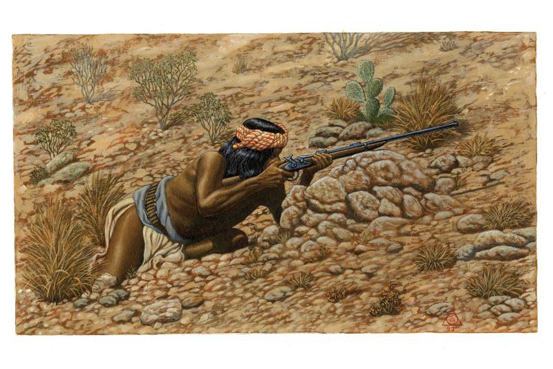 En vente - Apache MARKSMAN par Sergio Macedo - Planche originale