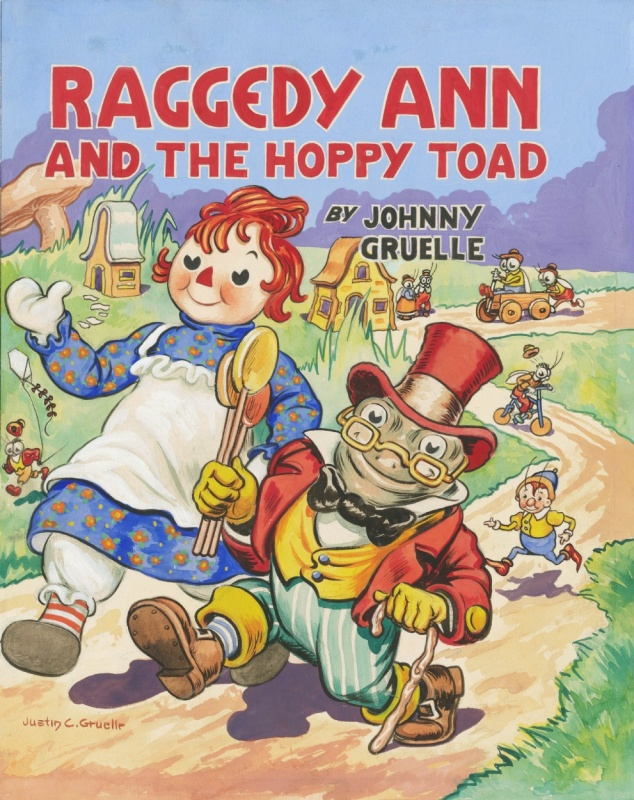 1940? - Raggedy Ann (Colored cover - American KV) by Johnny Gruelle, Justin Gruelle - Original Cover