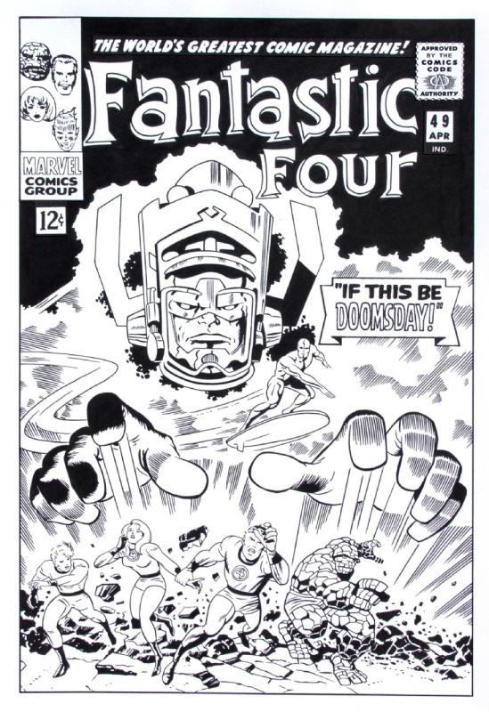 1966? - Fantastic Four (Cover - American KV) by Jack Kirby - Original Cover
