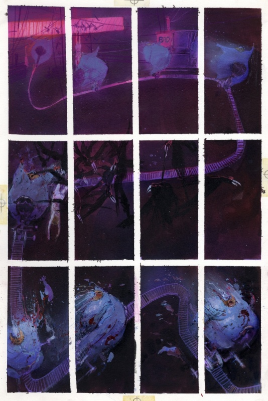 1988 - Stray Toasters (Colored page - American KV) by Bill Sienkiewicz - Comic Strip