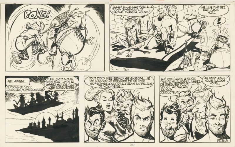 1956 - Belloy / Robber (Page part B - French KV) by Albert Uderzo, Jean Michel Charlier - Comic Strip