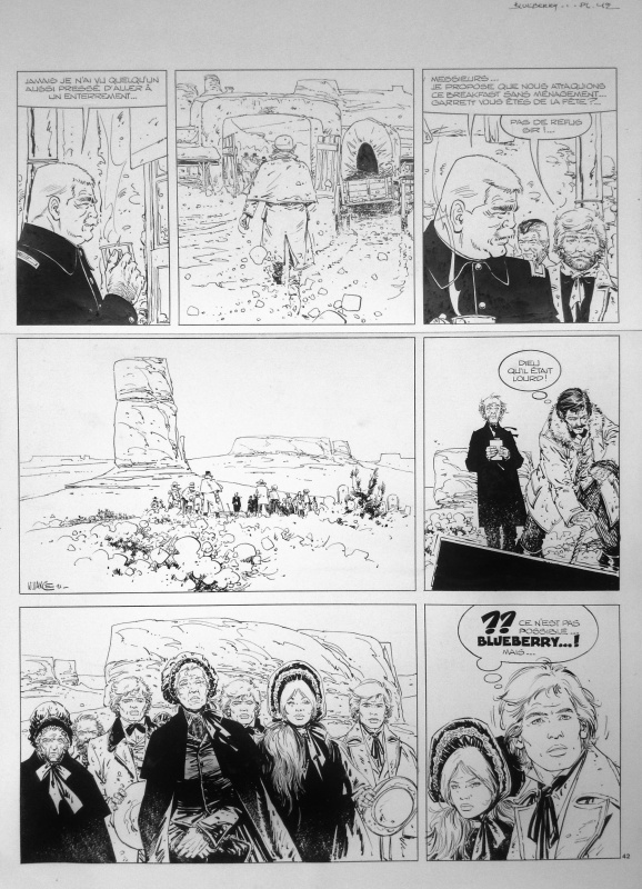 Marshall Blueberry 1 - Sur ordre de Washington by William Vance, Jean Giraud - Comic Strip