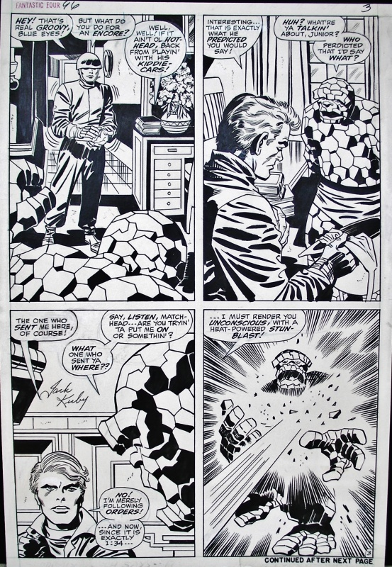 Planche originale Fantastic Four 96 Page 3 by Jack Kirby, Frank Giacoia - Comic Strip