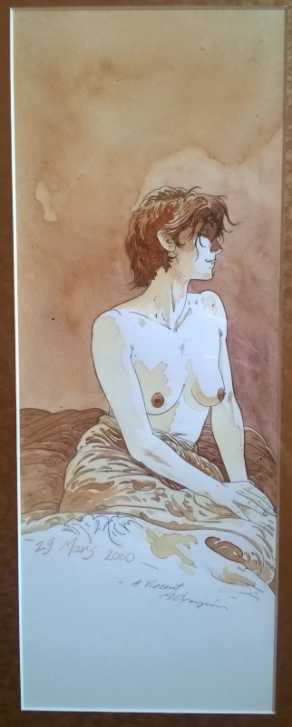 Crespin femme sur le lit by Michel Crespin - Illustration