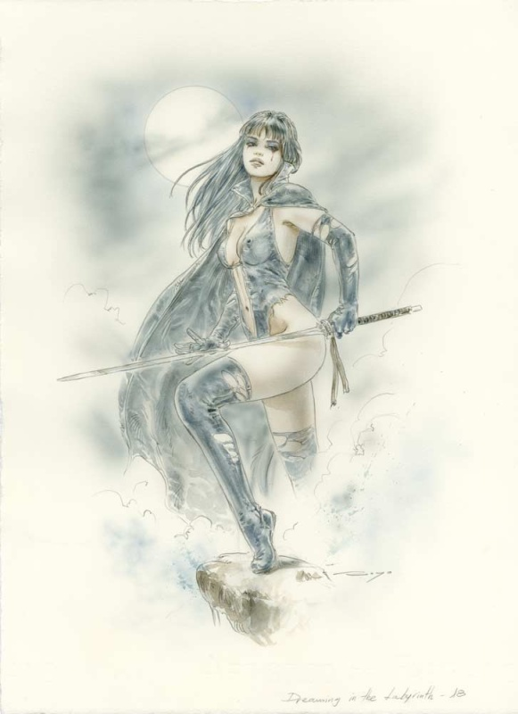 Dreaming in the Labyrinth 18 by Luis Royo - Illustration