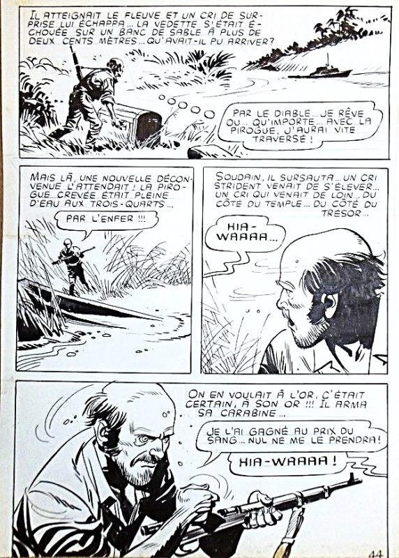 Les aventuriers de l'or, planche 44 - Yataca n°19 (Mon journal) by Ferdinando Tacconi - Comic Strip