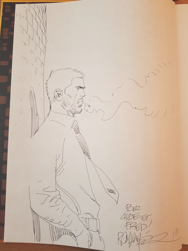 Dédicace de Meyer dans Berceuse assassine tome 1 by Ralph Meyer - Sketch